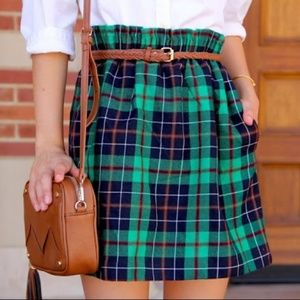 J. CREW Dublin Plaid Tartan Wool City Mini Skirt 0